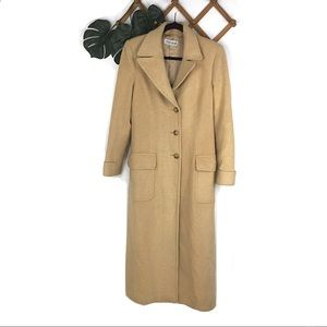 Brooks Brothers Camel Hair Long Trench Coat 8 Wool